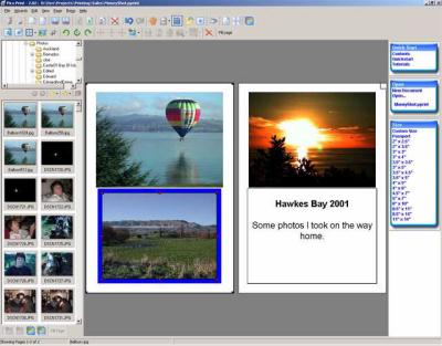 Pics Print is a Windows application that makes it simple to format and print high-quality photos, greeting cards, contact sheets, and family albums.
